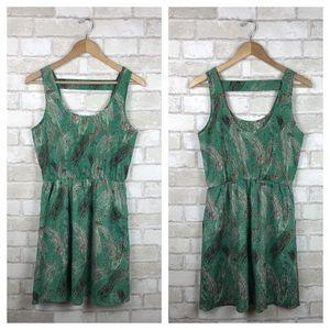 Lush Green Sleeveless Dress Size M